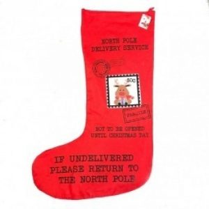 Axm9038 deer north pole deer stocking