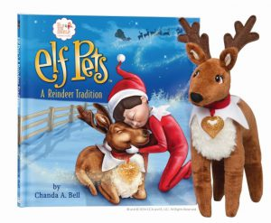 Elf on the shelf elf pets a reindeer tradition book w plush toy