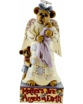 Boyds bears resin mama angelbeary w lil emma jim shore bearstone figurine 16485 purple